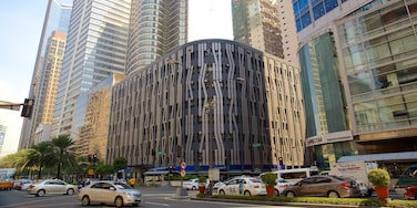 Makati showing modern architecture and street scenes