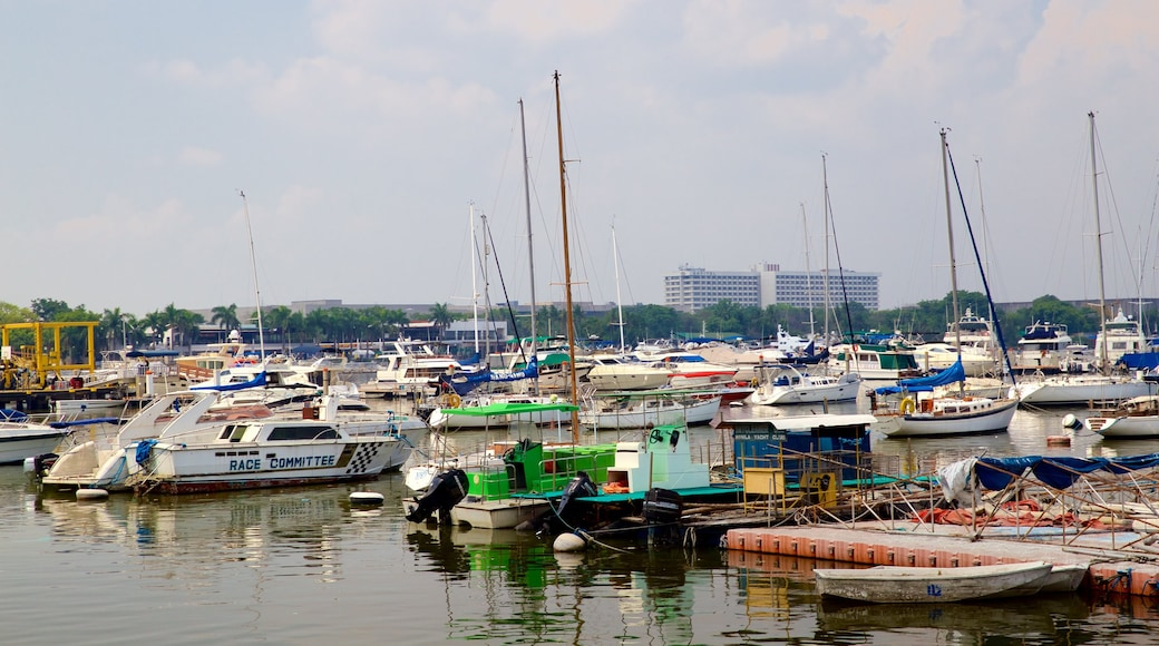 Manila Bay which includes a marina