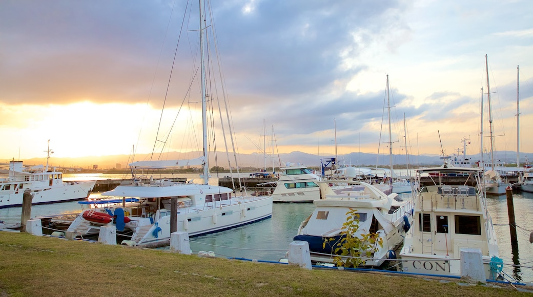 Cebu Yacht Club featuring a bay or harbor and a sunset