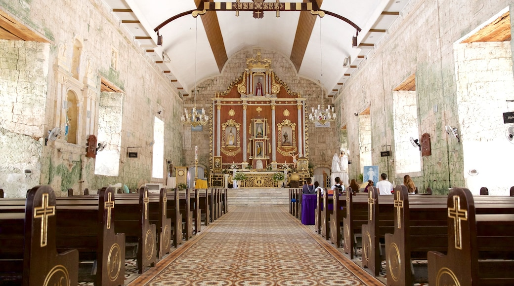 Cebu showing interior views, religious elements and heritage architecture
