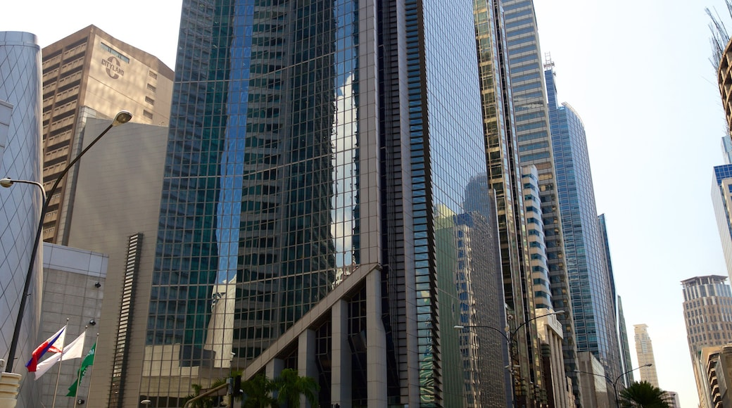 Makati which includes modern architecture and a city