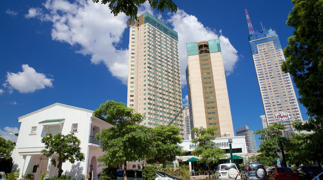 Mandaluyong which includes a high rise building and a city