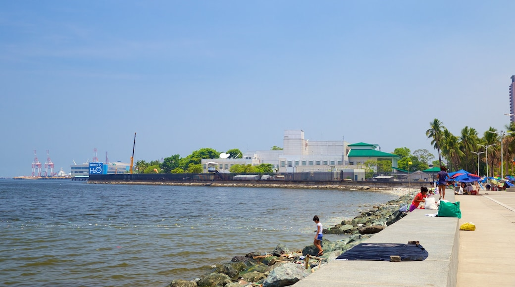 Manila Bay showing rocky coastline