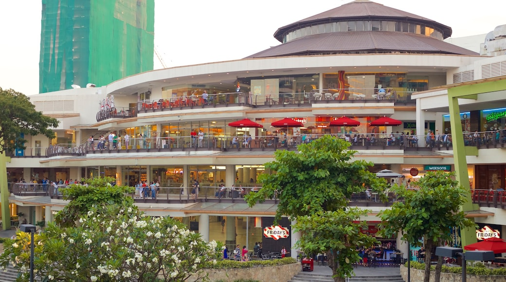 Ayala Center which includes modern architecture