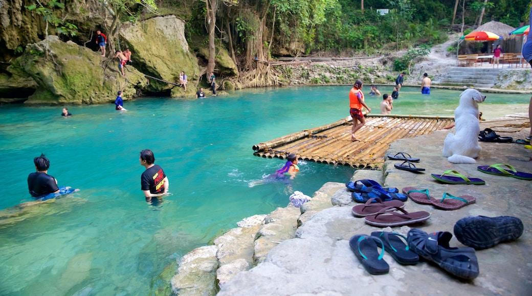 Cascate di Kawasan che include nuoto