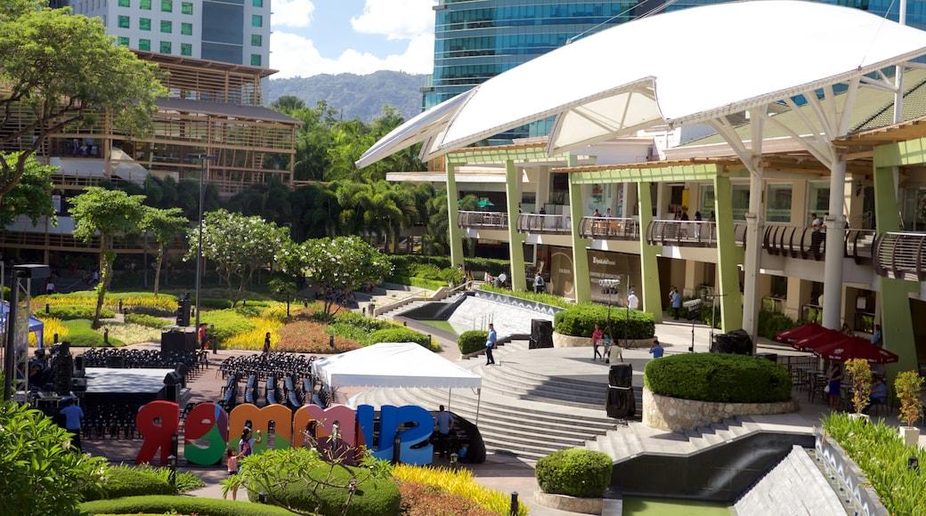 Ayala Center which includes a garden