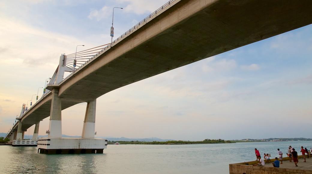 Marcelo Fernan Bridge featuring a bridge and a river or creek