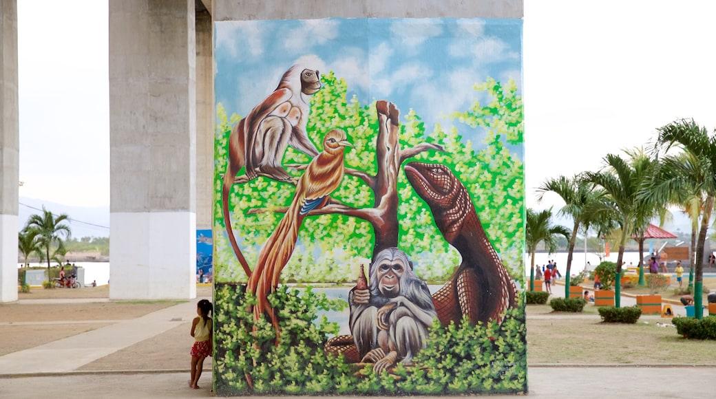 Marcelo Fernan Bridge showing art