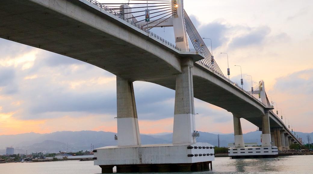 Marcelo Fernan Bridge featuring a sunset and a bridge