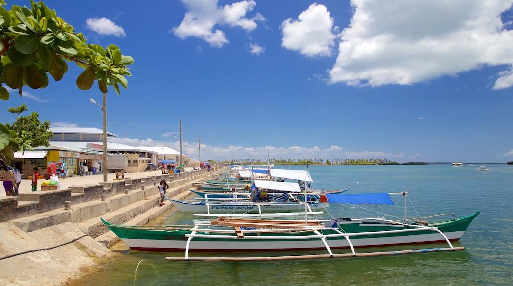 Bantayan Public Market which includes general coastal views