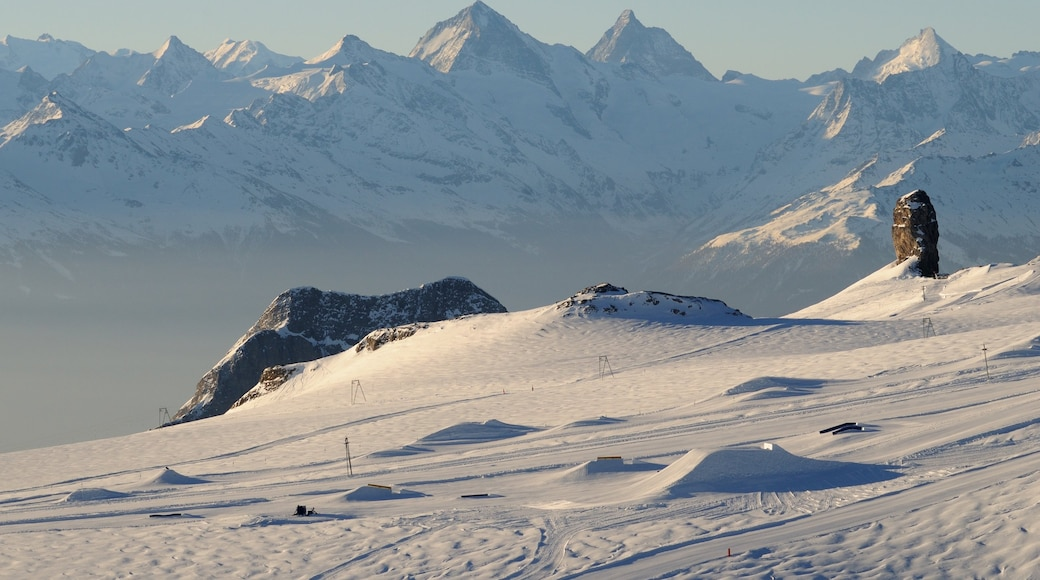 Les Diablerets Ski Resort featuring snow