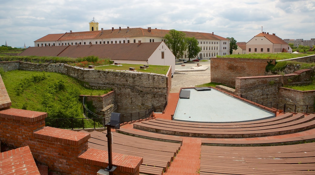 Fortress of Oradea showing theatre scenes