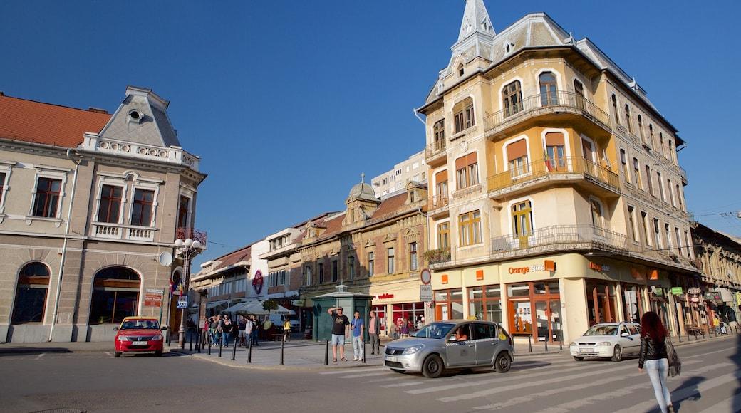 Oradea showing street scenes