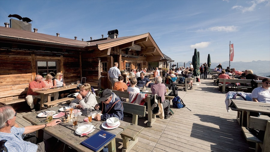 Scheffau am Wilden Kaiser featuring outdoor eating