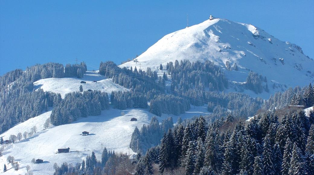 Brixen im Thale das einen Berge und Schnee