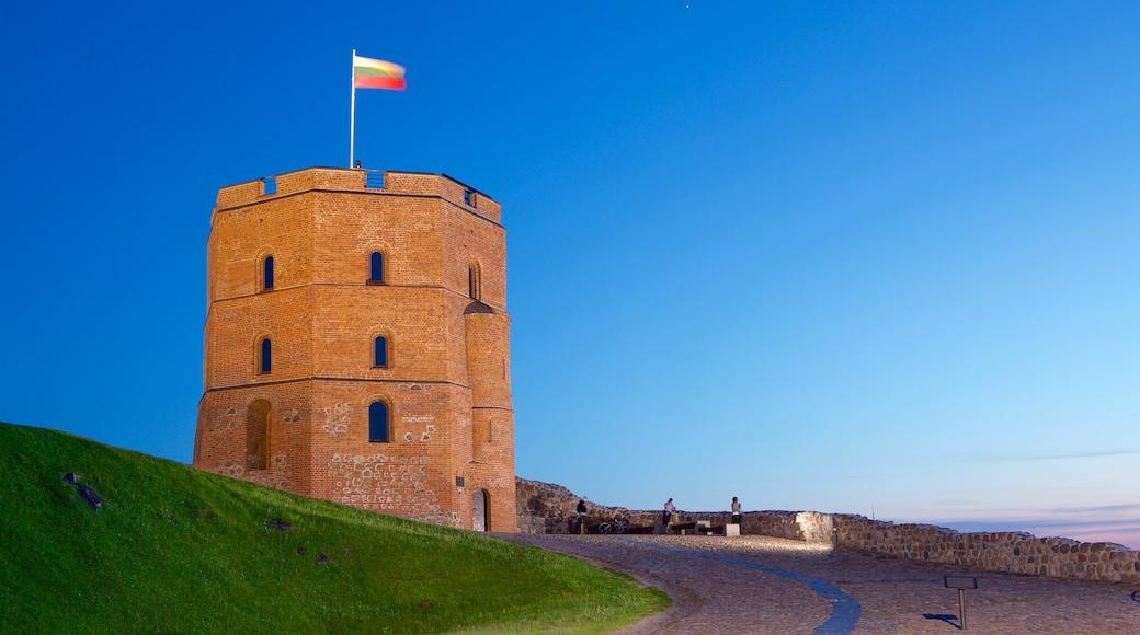Torre Gediminas caratteristiche di castello o palazzo e tramonto