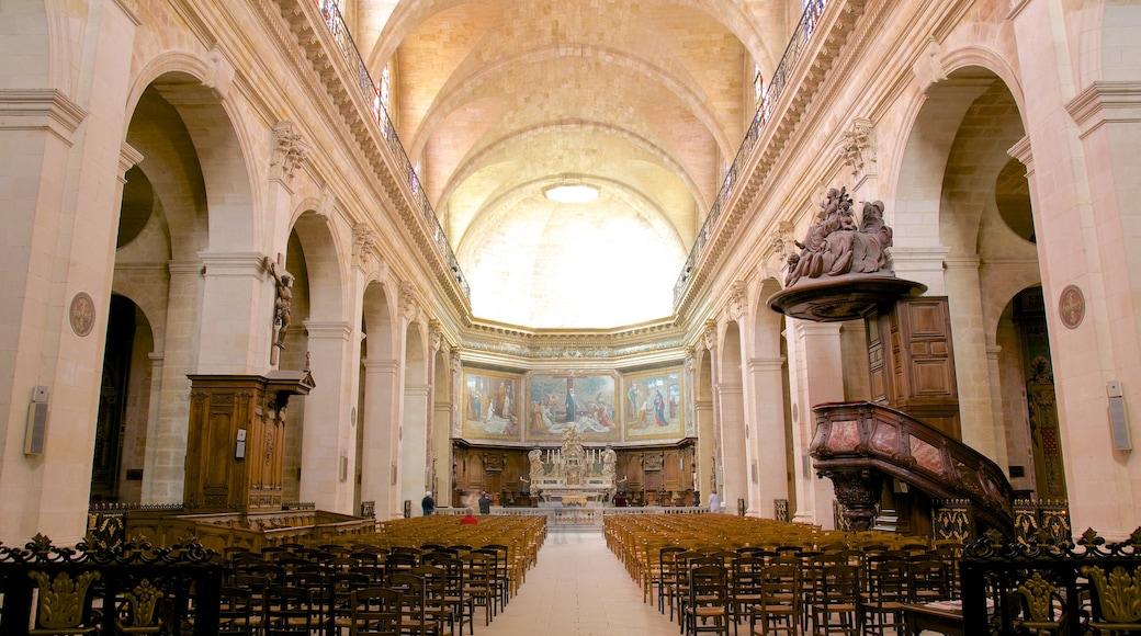 Notre Dame Church which includes interior views and theatre scenes
