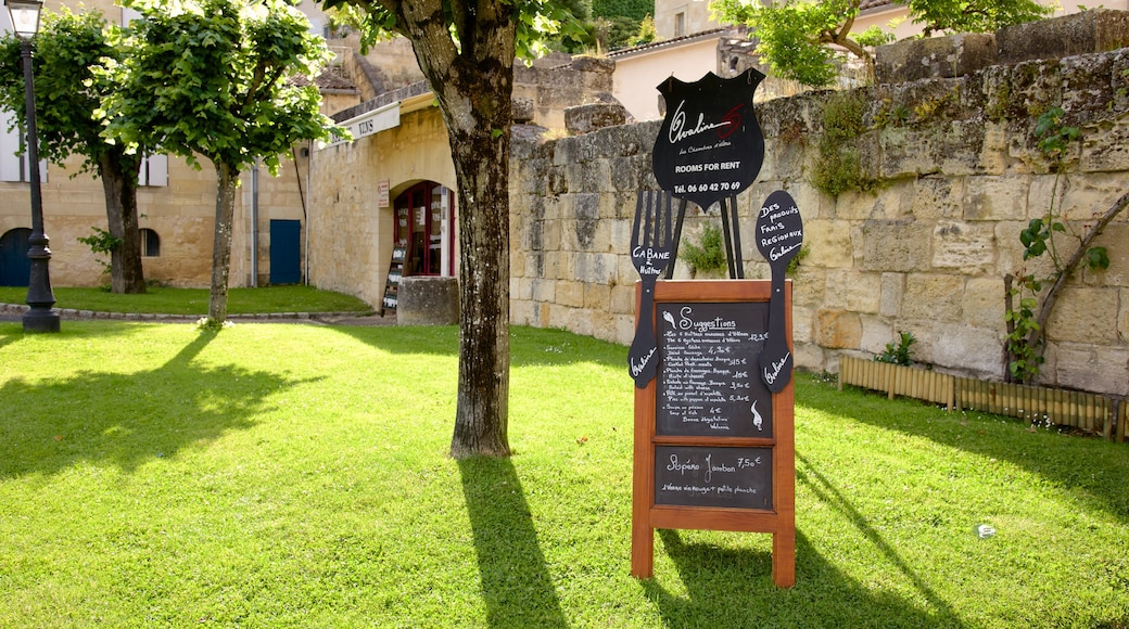 Bordeaux Wine Region which includes signage