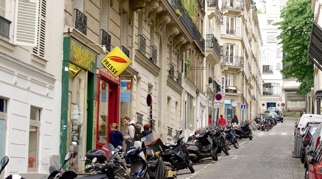 蒙馬特 呈现出 傳統元素 和 街道景色