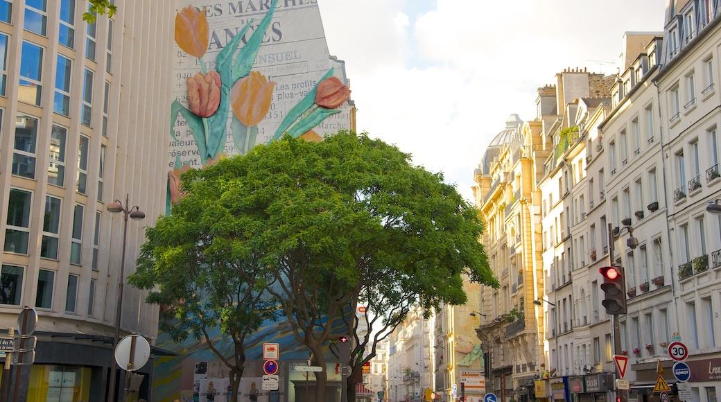 2. Arrondissement mit einem Stadt und Straßenszenen