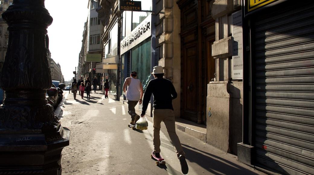 2. Arrondissement das einen Straßenszenen