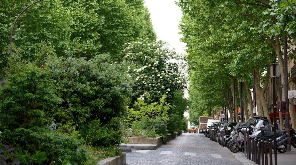 9° Arrondissement che include parco e strade