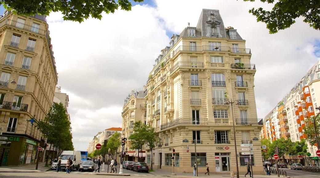 10° Arrondissement mostrando oggetti d\'epoca e strade