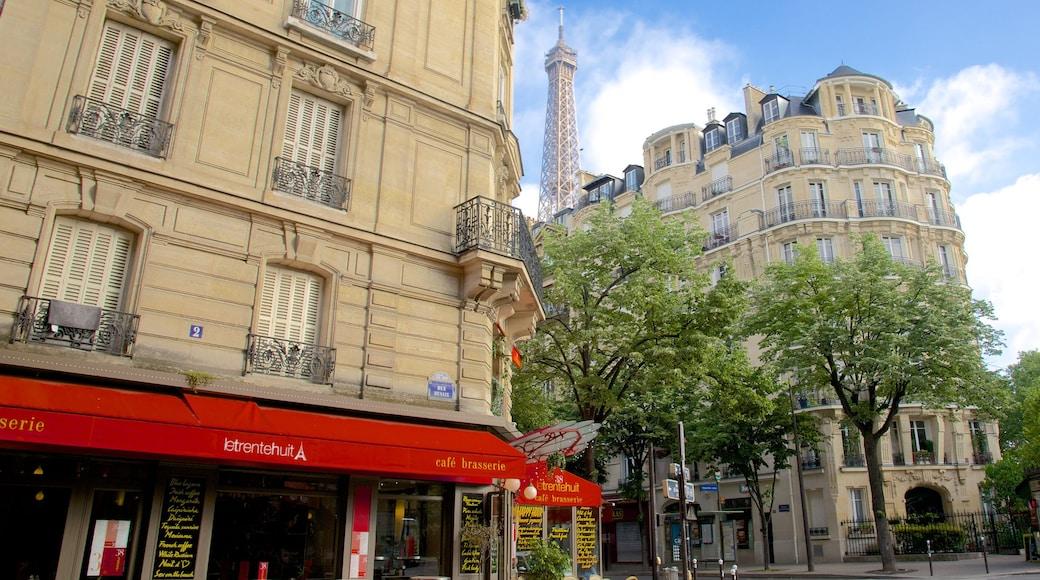 15° Arrondissement mostrando oggetti d\'epoca e città