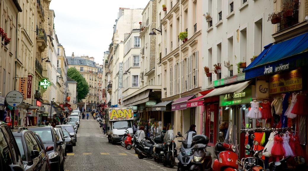 18. Arrondissement das einen Straßenszenen und Stadt