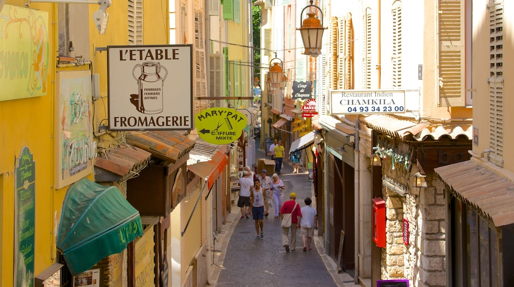 Antibes featuring street scenes and signage