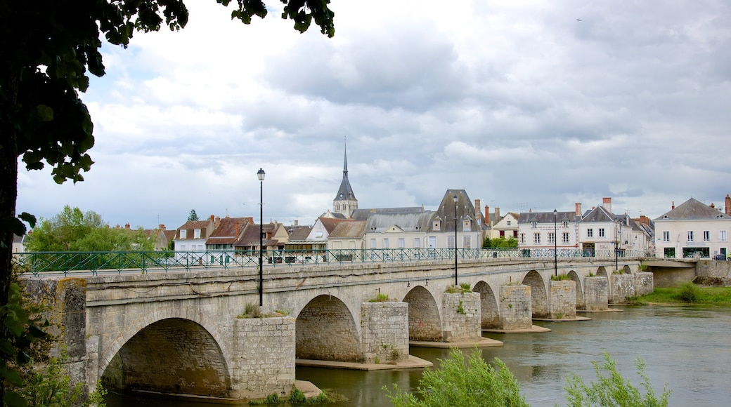 Selles-sur-Cher which includes a bridge and a small town or village
