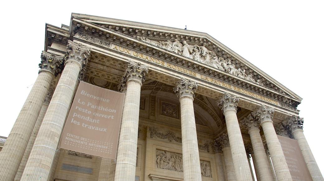 Quartier Latin - Panthéon montrant patrimoine architectural et mémorial