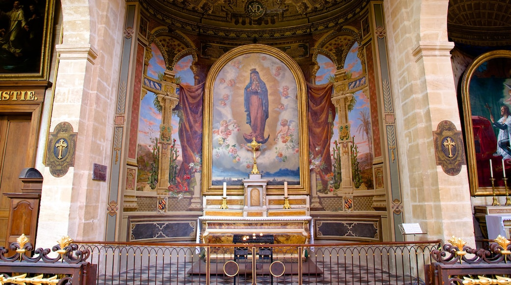 Notre Dame Church which includes interior views, art and religious elements