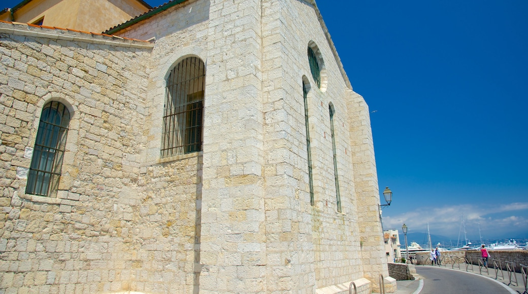 Antibes Cathedral showing heritage elements and a church or cathedral