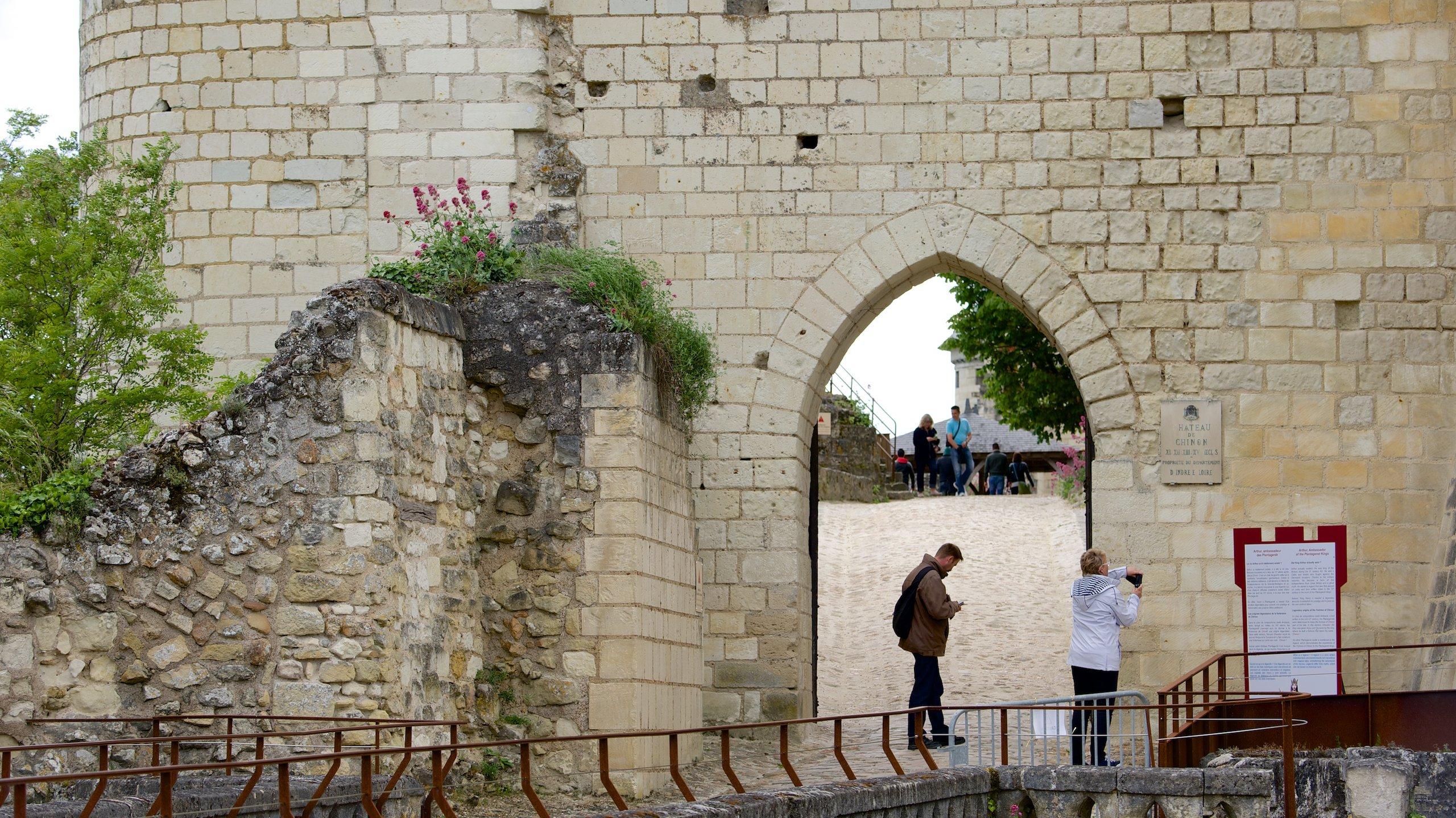 Burg Chinon, Chinon, Département Indre-et-Loire, Frankreich