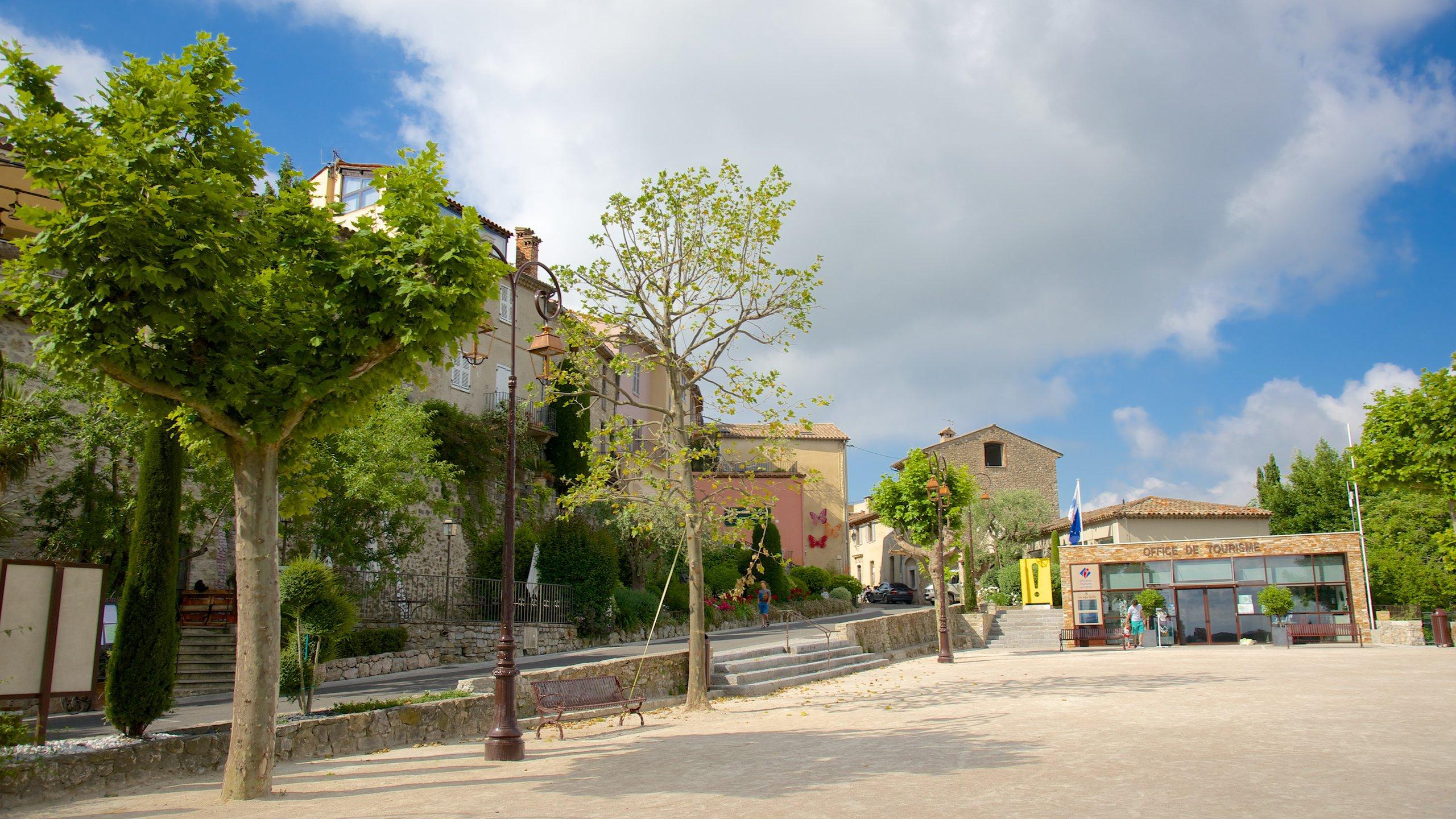 Centrum van Mougins, Mougins, Alpes-Maritimes, Frankrijk