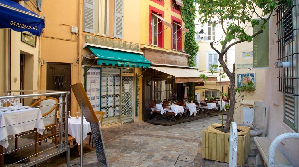 Altstadt von Cannes welches beinhaltet Café-Lifestyle