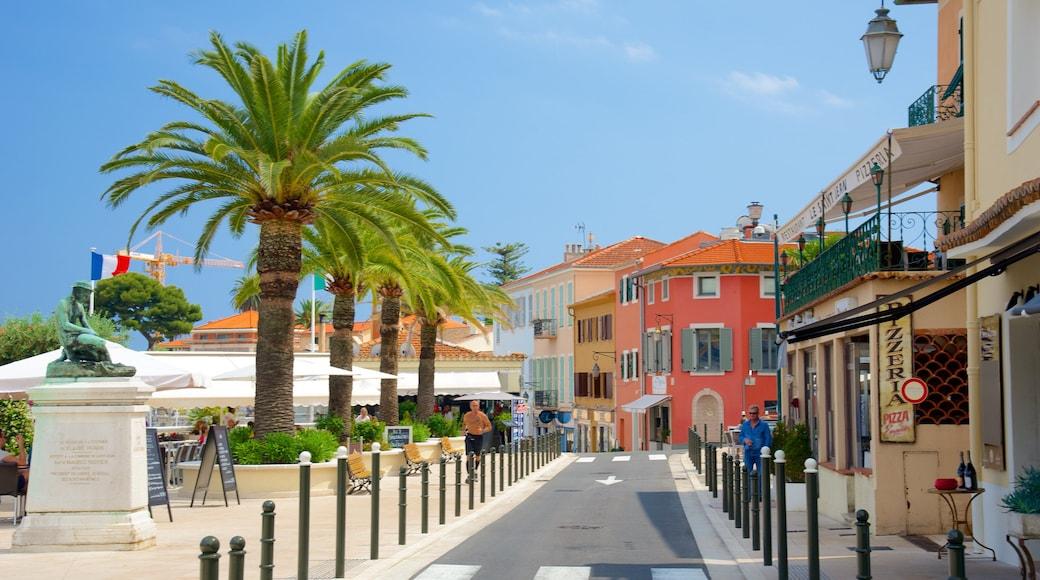 Saint-Jean-Cap-Ferrat joka esittää rannikkokaupunki