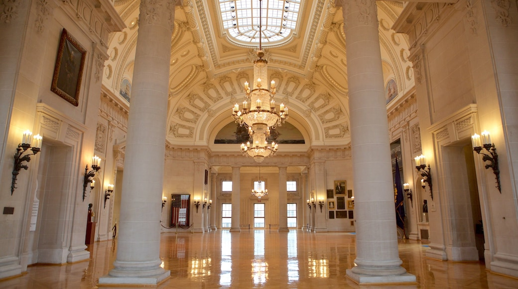 U.S. Naval Academy which includes heritage architecture, military items and interior views