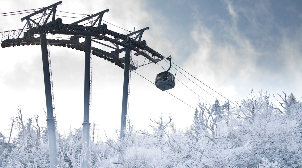 Whiteface Mountain featuring a gondola and snow