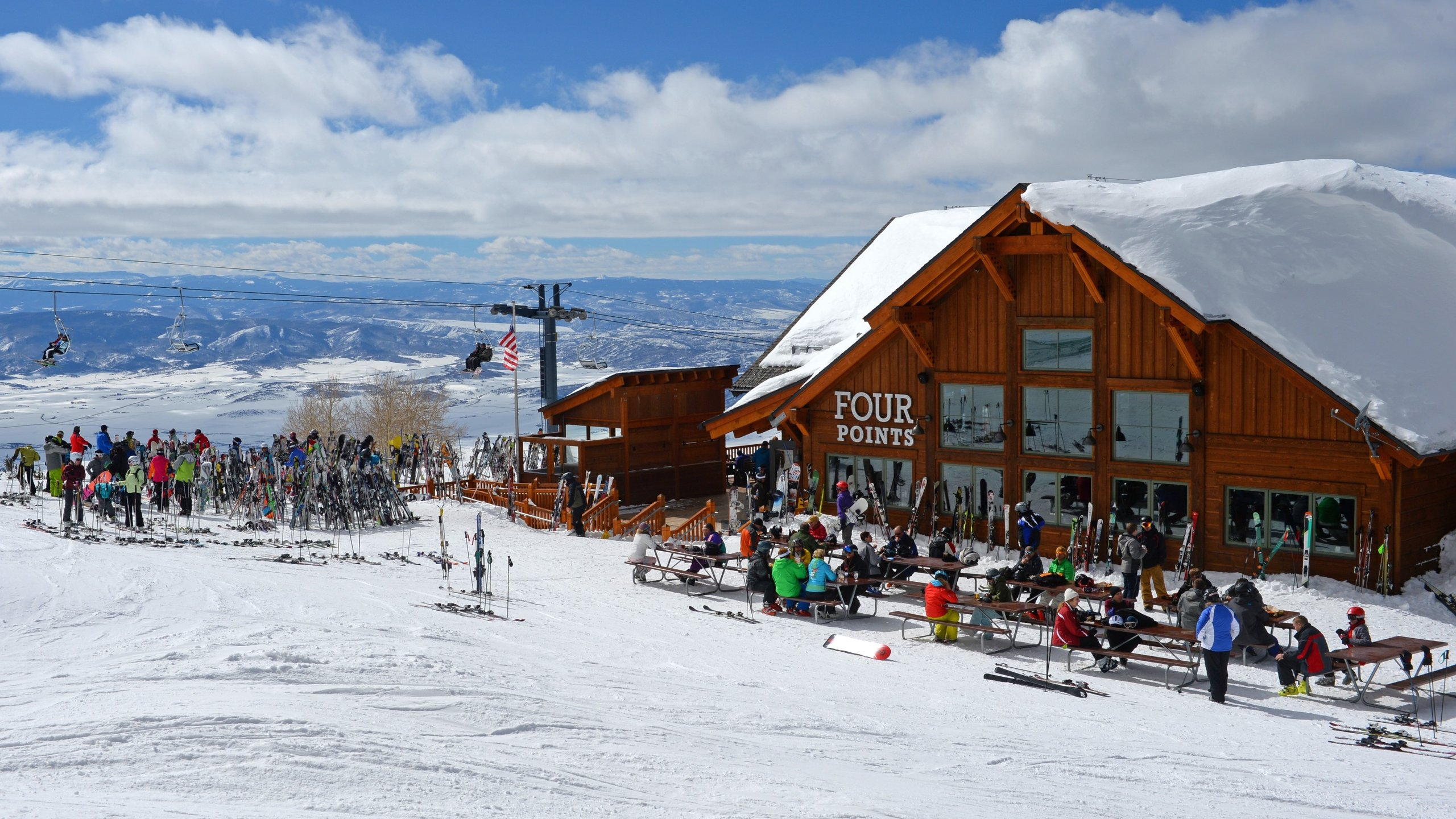 Steamboat skiområde, Steamboat Springs, Colorado, USA