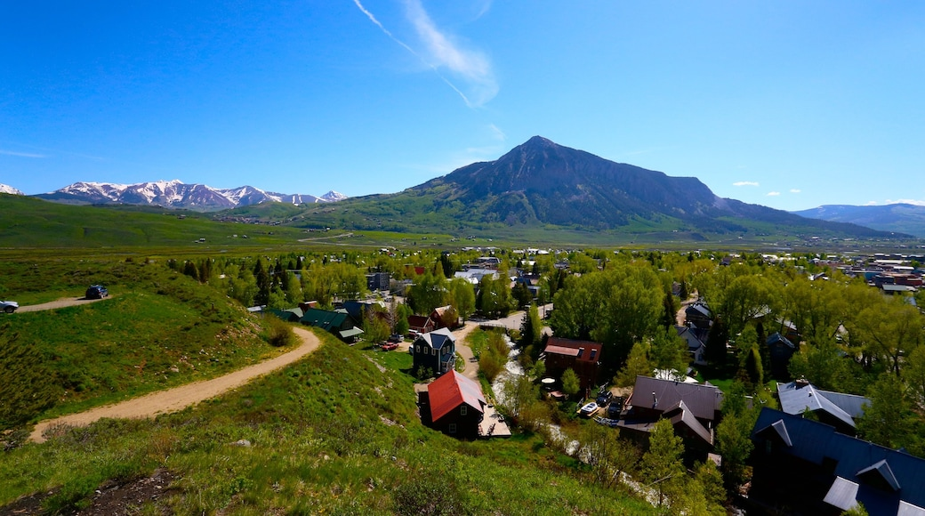Crested Butte Mountain Resort which includes mountains and a small town or village
