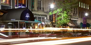 Centre-ville de Washington D.C. mettant en vedette scènes de nuit, ville et scènes de rue