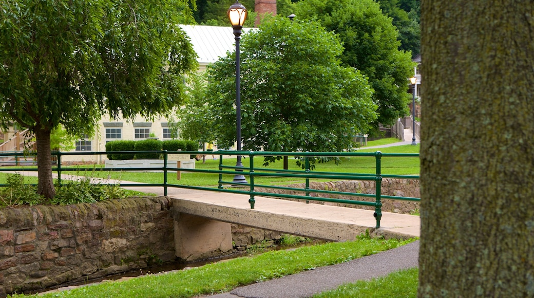 Berkeley Springs State Park which includes a park and a bridge