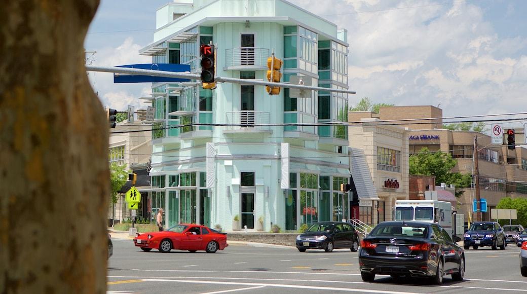 Bethesda, MD mostrando elementos de patrimônio e cenas de rua