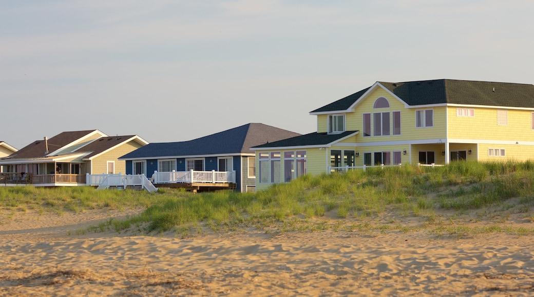 Sandbridge Beach featuring a house, a beach and a coastal town