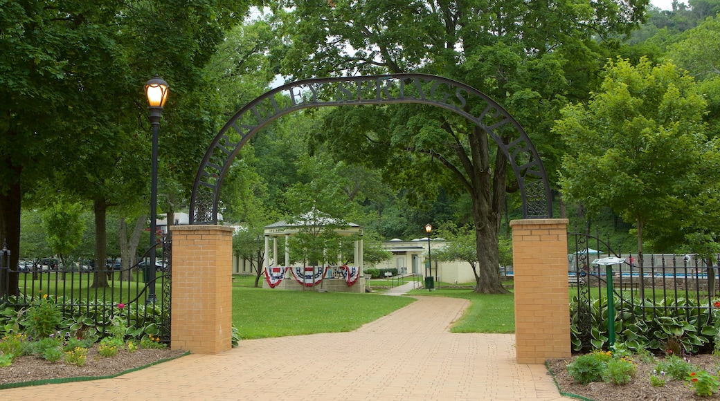 Berkeley Springs State Park featuring a park