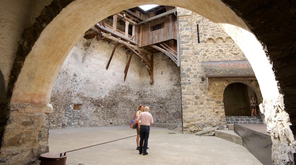 Liechtenstein which includes heritage elements, a castle and interior views
