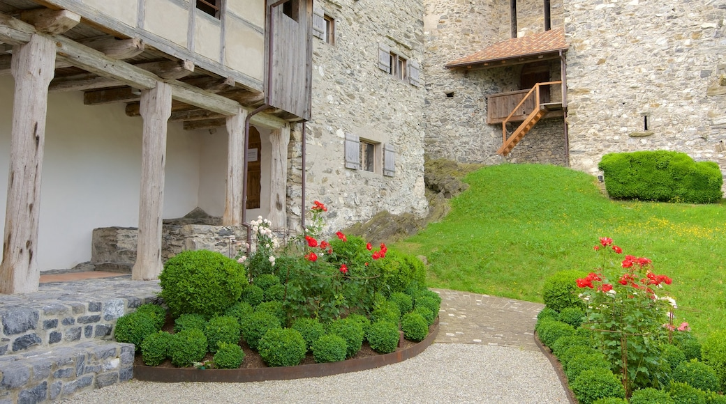 Liechtenstein featuring chateau or palace, flowers and heritage elements