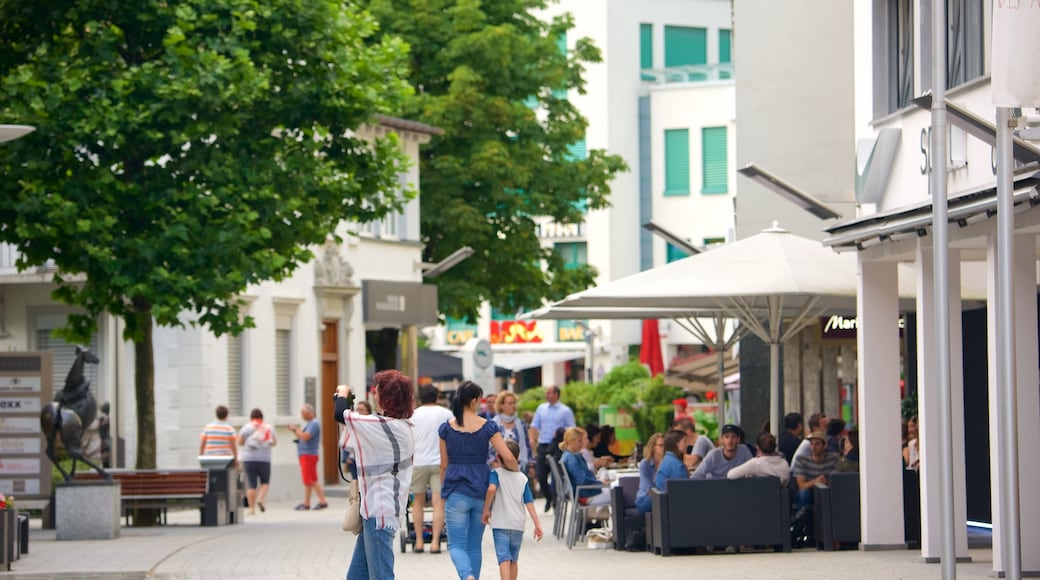 Vaduz featuring cafe lifestyle, a city and street scenes